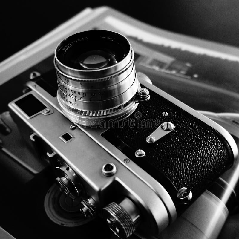 Vintage Rangefinder Camera. Vintage Soviet Russian Zorki Rangefinder Camera stock photos