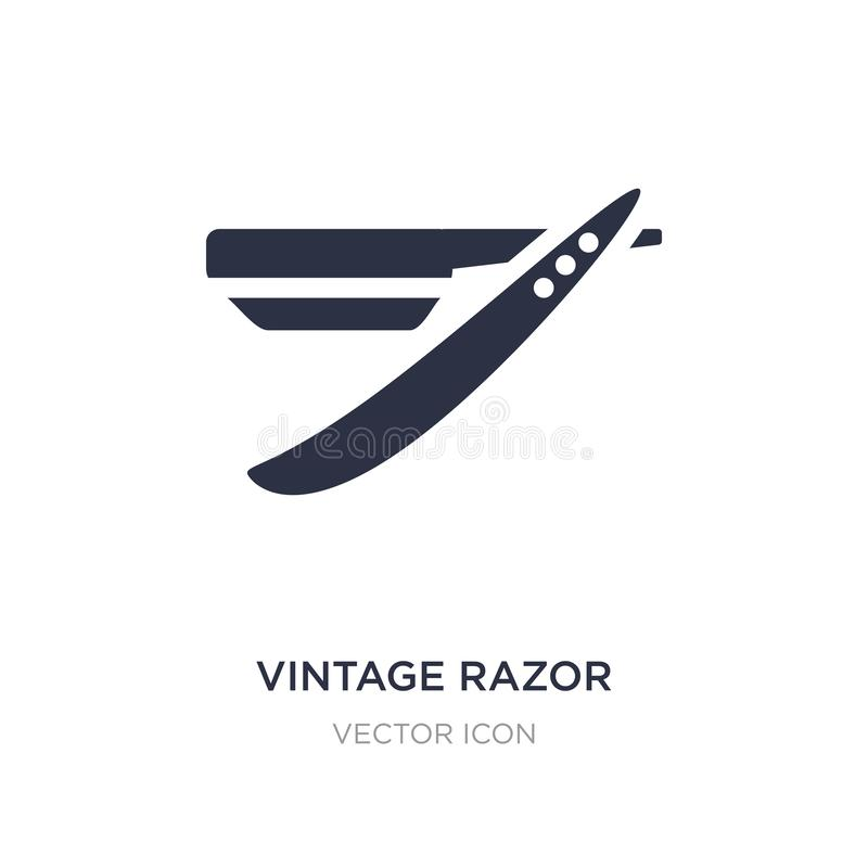 vintage razor icon on white background. Simple element illustration from Beauty concept stock illustration