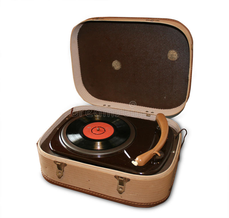 Vintage record player royalty free stock photos