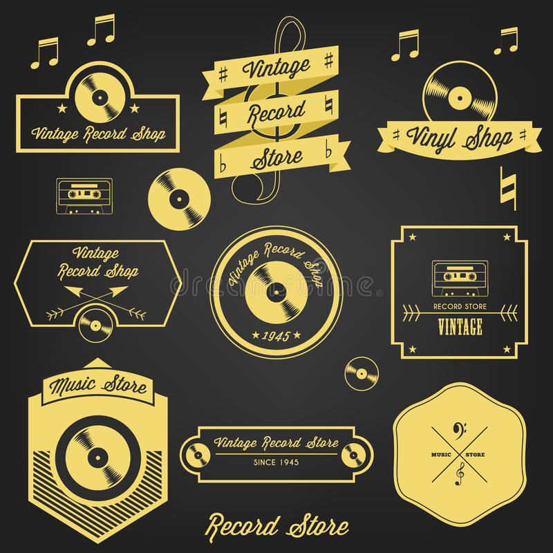 Download Vintage Record Store stock vector. Illustration of player - 39510641