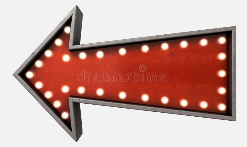 Download Vintage Red Arrow Sign Stock Illustration. Illustration Of Belle    50511123