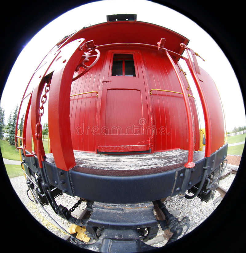Free Vintage Red Caboose Royalty Free Stock Photos - 5633598
