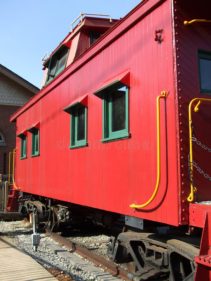 Free Vintage Red Caboose Royalty Free Stock Photos - 6110358