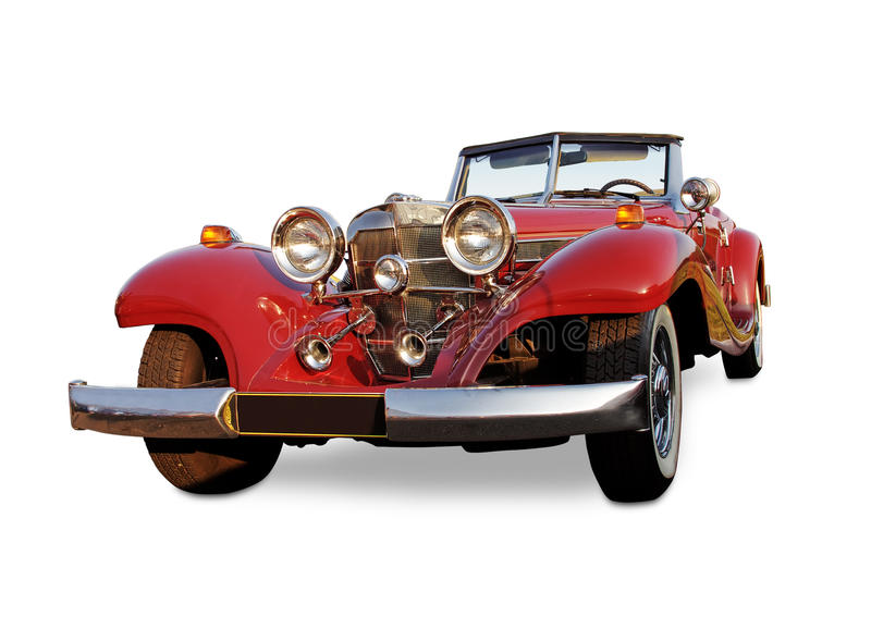 Vintage red car royalty free stock photography