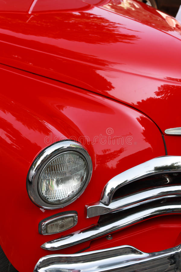 Download Vintage red car stock image. Image of chrome, machine - 15622299