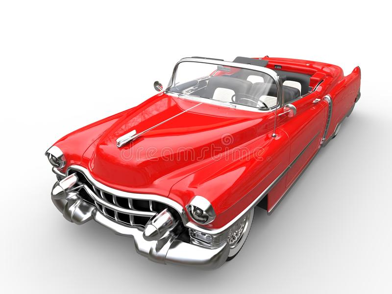 Download Vintage Red Car - Top Angle Shot Stock Illustration - Image: 83717308