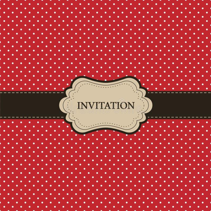 Download Vintage Red Card, Polka Dot Design Stock Vector - Image: 19848822