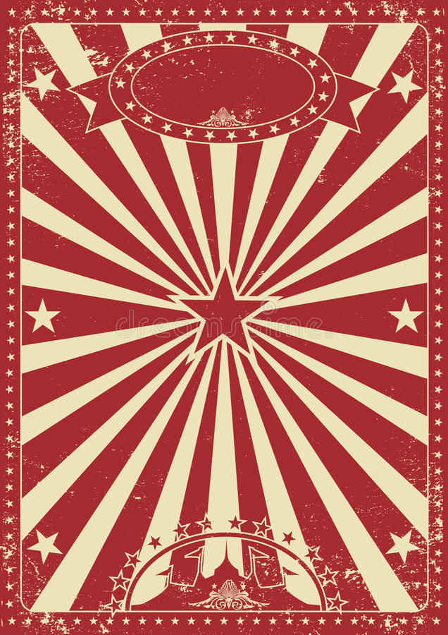Vintage red circus stock images