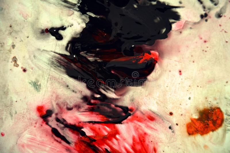 Vintage red dark spots, painting watercolor background, painting abstract colors stock images