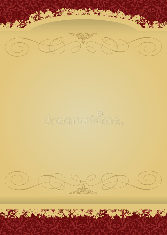 Vintage Red and Gold decorative banner royalty free illustration