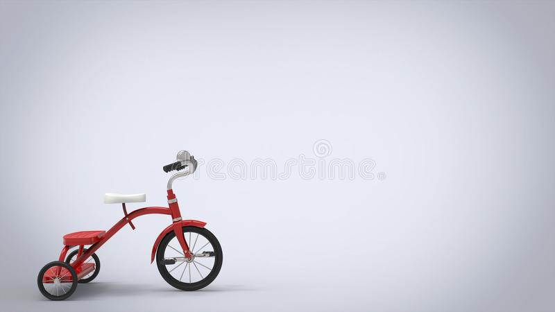 Vintage red tricycle - white background royalty free illustration