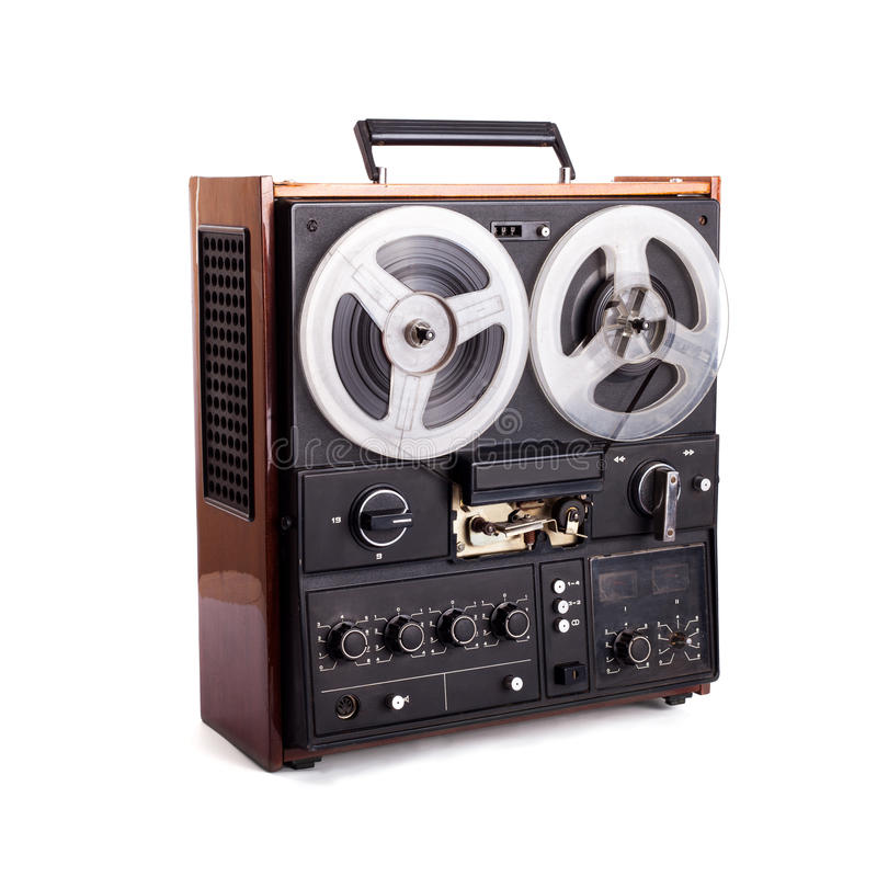 Vintage reel-to-reel recorder royalty free stock photography