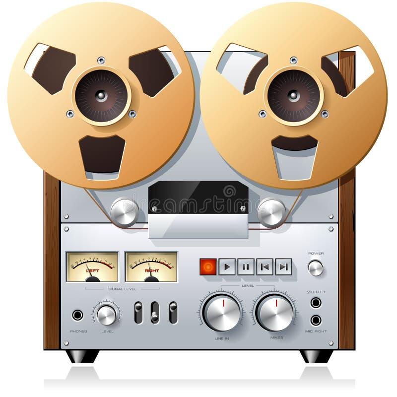 Download Vintage Reel-to-reel Tape Recorder Deck Stock Vector - Image: 15231399
