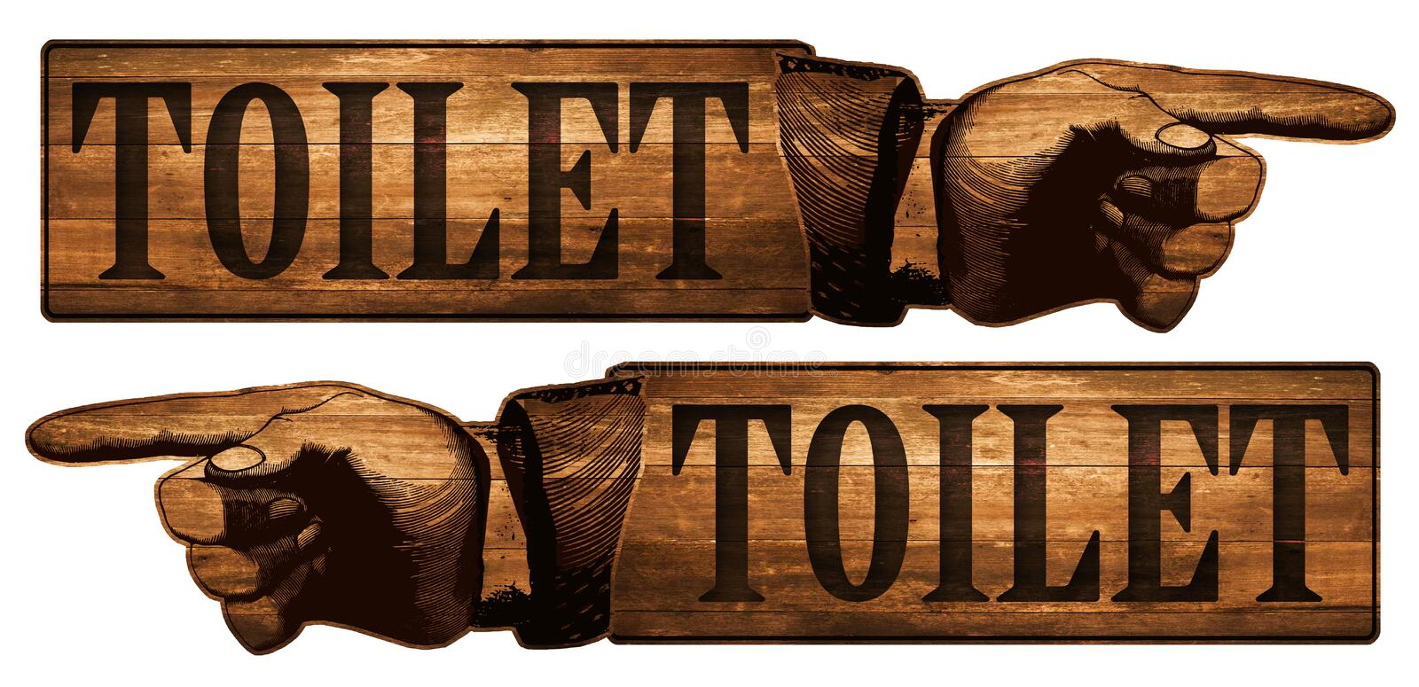 Download Vintage Restroom Toilet Sign Stock Illustration