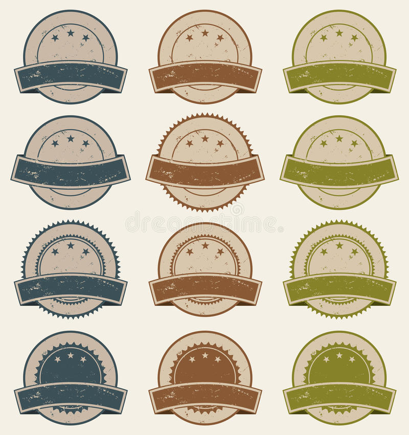 Vintage Retail Badges, Awards And Banners stock illustration