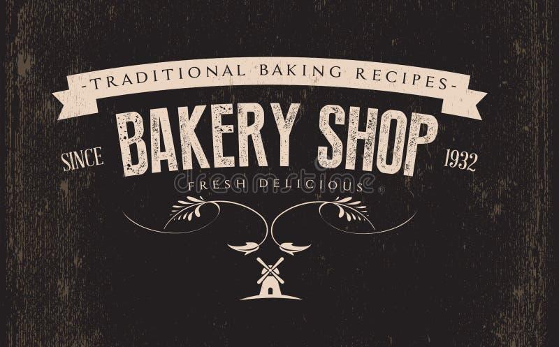 Vintage Retro Bakery Label vector illustration