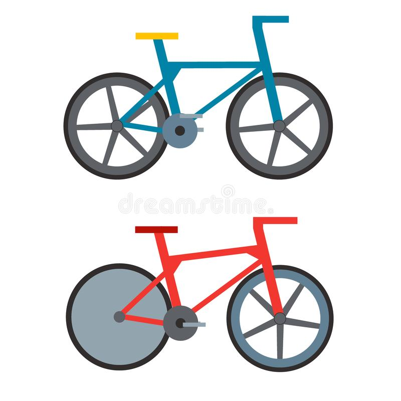 Vintage retro bicycle and style antique sport old fashion grunge flat pedal ride vector. vector illustration