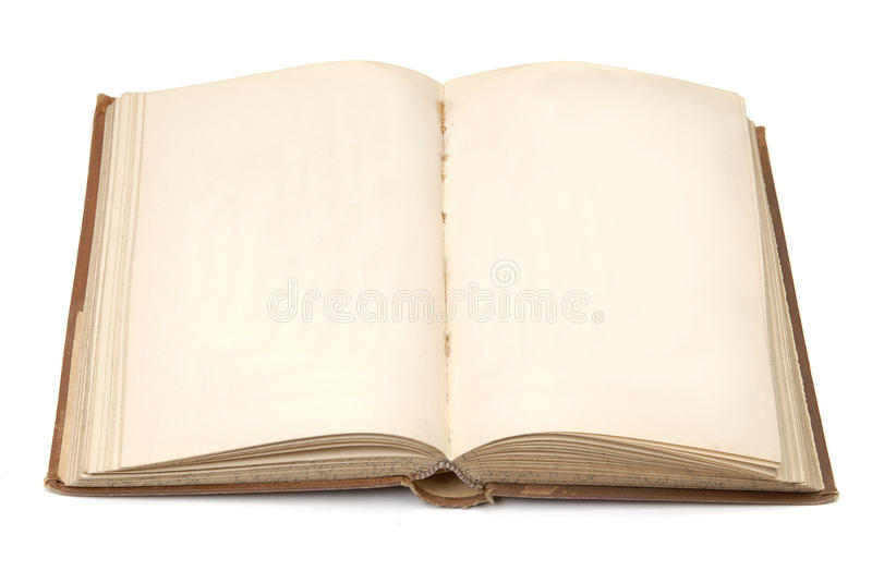 Vintage retro book with plain pages royalty free stock photo