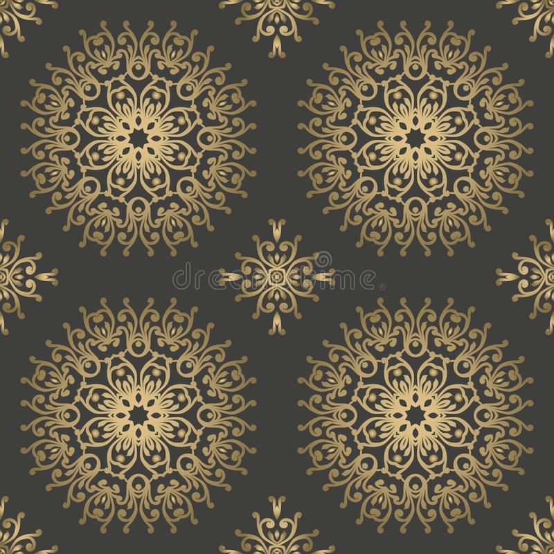 Vintage retro ceramic tile pattern. Vector tile Pattern. Antique. Retro ceramic tile patter can be used for wallpaper, background, surface textures stock illustration