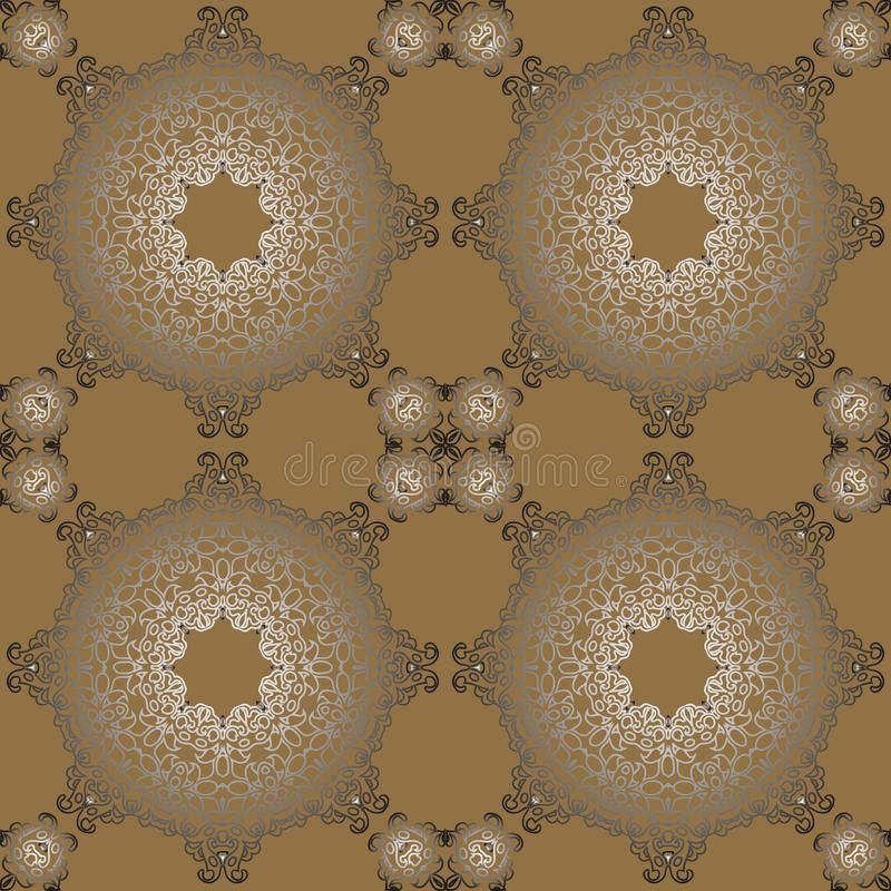 Vintage retro ceramic tile pattern. Vector tile Pattern. Antique. Retro ceramic tile patter can be used for wallpaper, background, surface textures royalty free illustration