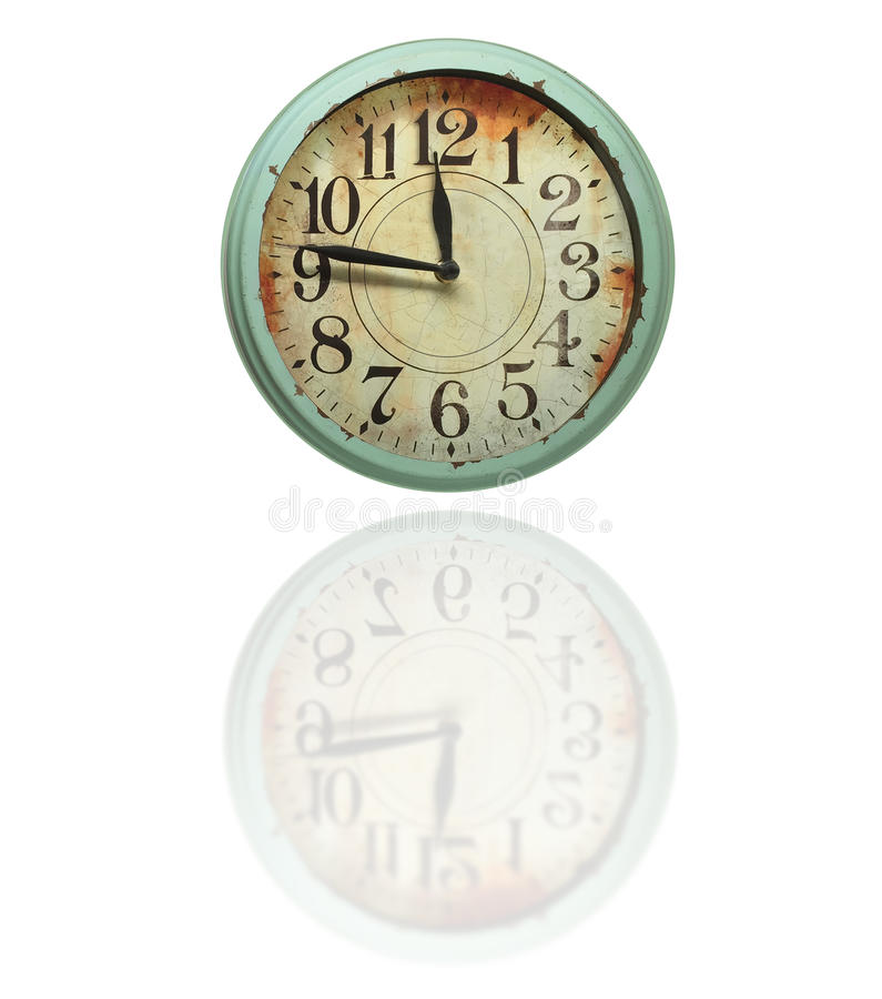 Vintage Retro Clock royalty free stock photo