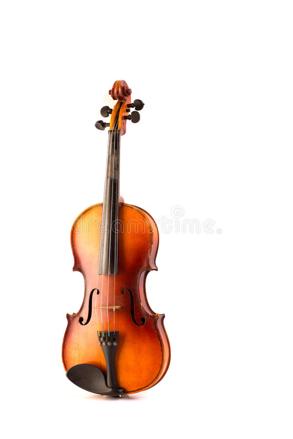 Vintage retro del violín aislado en blanco fotos de archivo