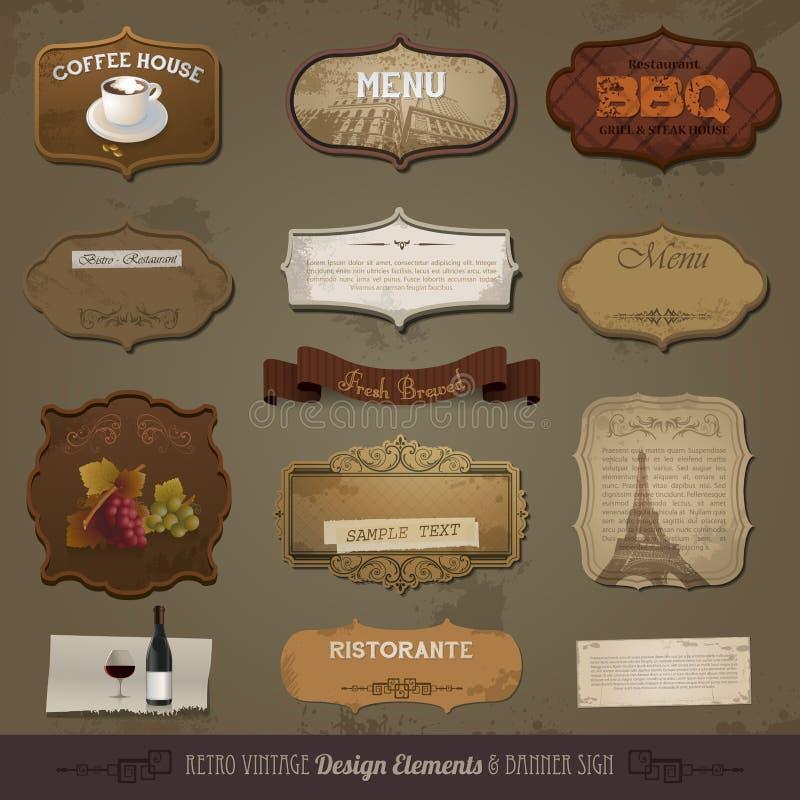 Vintage And Retro Design Elements vector illustration