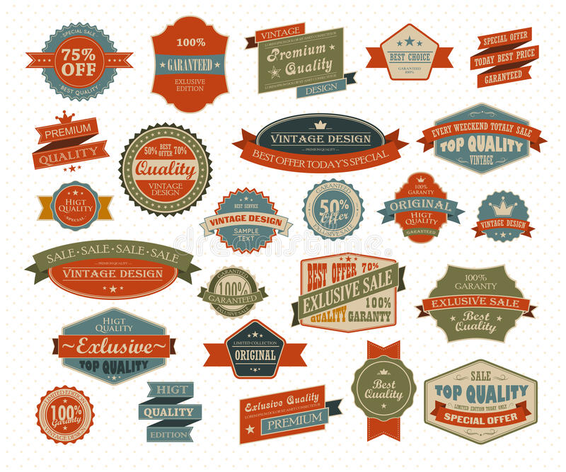 Vintage and retro design elements royalty free illustration