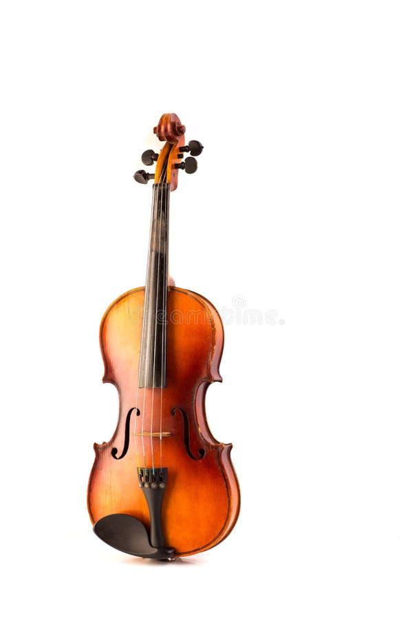 Vintage retro do violino isolado no branco fotos de stock