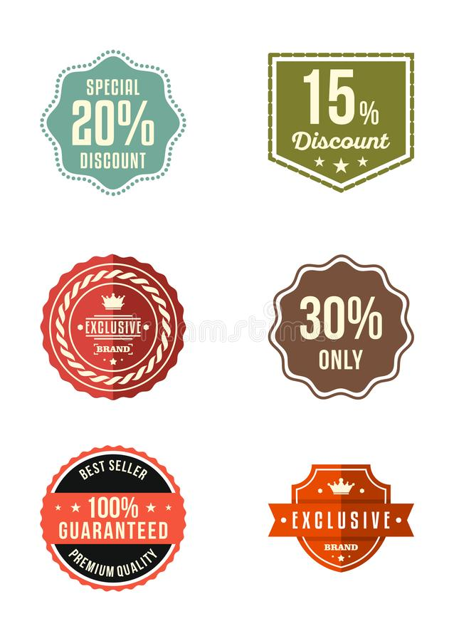 Vintage Retro Exclusive Brand Special Discount Collection stock illustration
