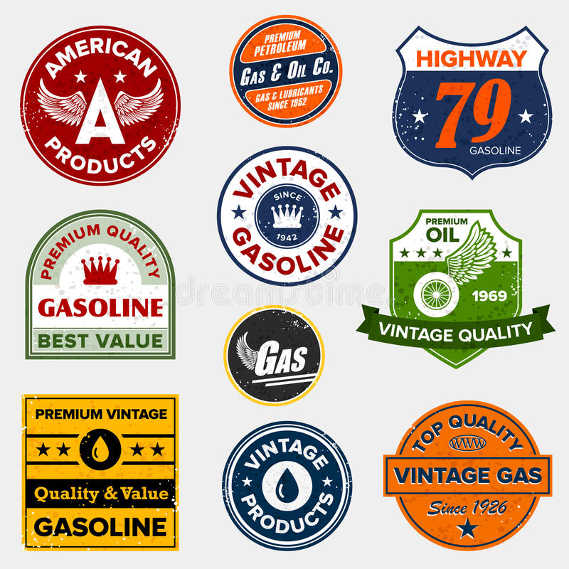 Free Vintage Retro Gas Signs Stock Images - 21630794