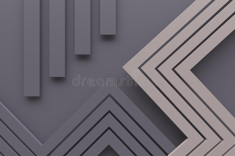 Vintage retro gray color pattern background line and dot 3d rend royalty free stock image