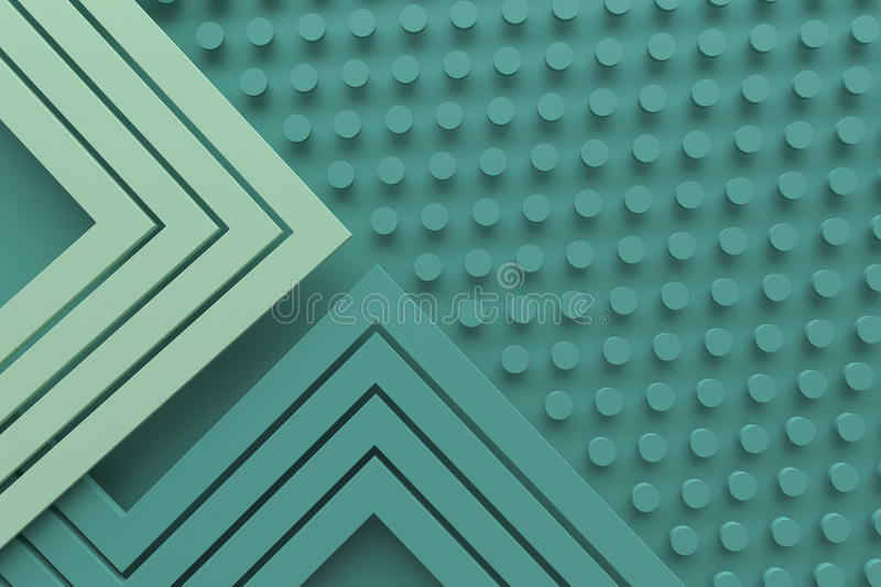 Vintage retro green teal color pattern background line and dot 3 royalty free stock photos