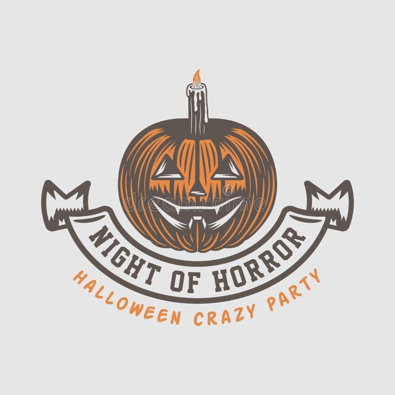 Free Vintage Retro Halloween Logo, Emblem, Badge, Label, Mark Royalty Free Stock Photography - 133296227