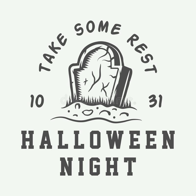 Free Vintage Retro Halloween Logo, Emblem, Badge, Label, Mark Royalty Free Stock Image - 133296566