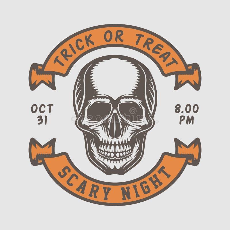 Free Vintage Retro Halloween Logo, Emblem, Badge, Label, Mark, Patche Stock Photo - 129305990