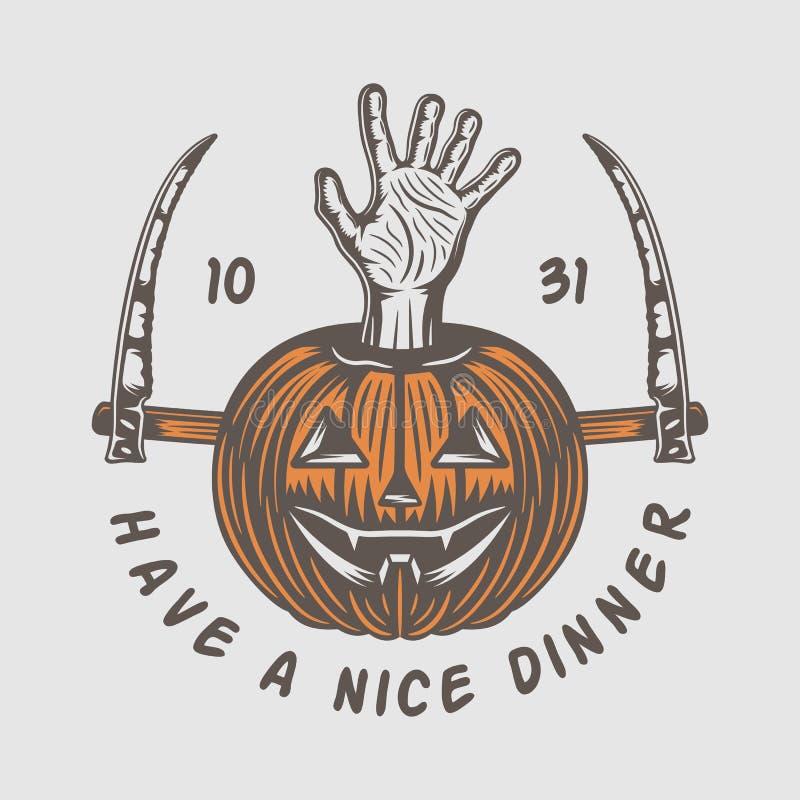 Free Vintage Retro Halloween Logo, Emblem, Badge, Label, Mark, Patche Royalty Free Stock Photography - 129306047