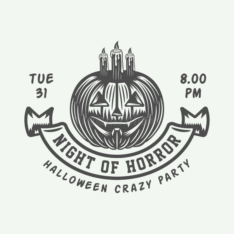 Free Vintage Retro Halloween Logo, Emblem, Badge, Label, Mark, Patche Royalty Free Stock Photography - 129306177
