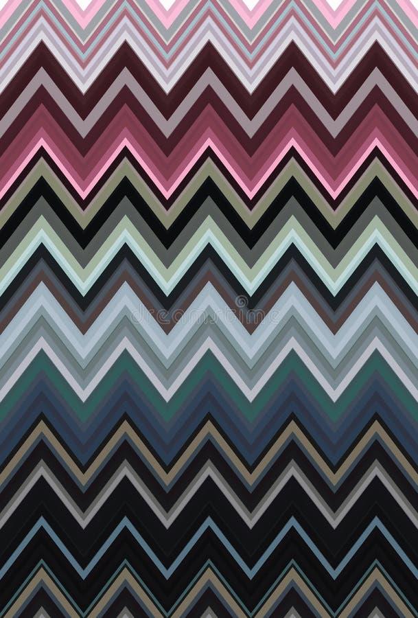 Vintage retro pattern chevron zigzag. art seamless stock illustration