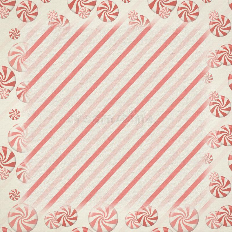 Vintage Retro Peppermint Candy Background Texture - Red - White - Christmas Texture. Vintage retro peppermint candy whimsical holiday Christmas background royalty free illustration