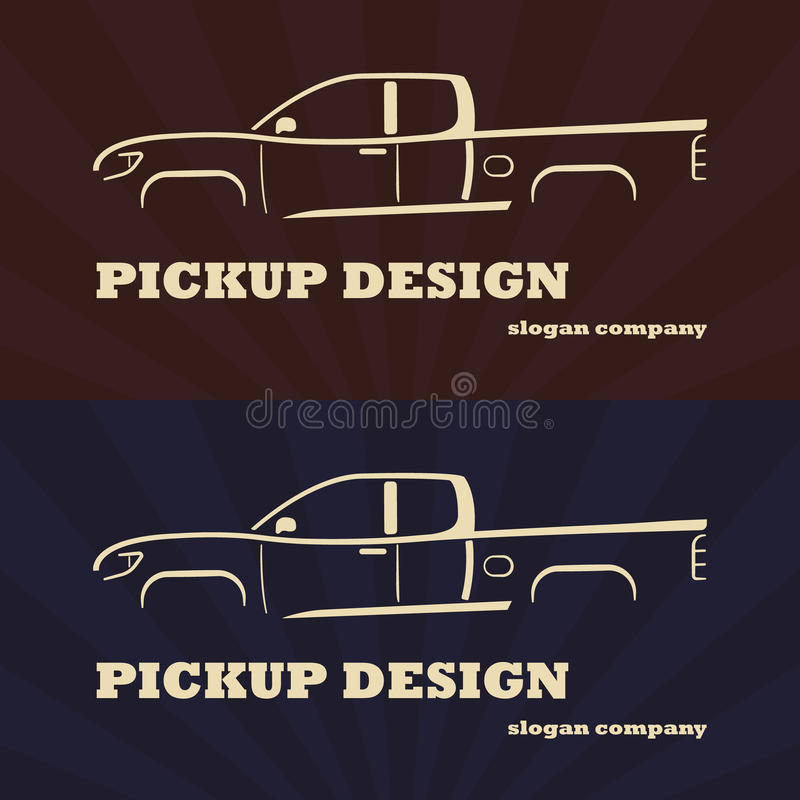 Vintage retro pickup truck. royalty free illustration