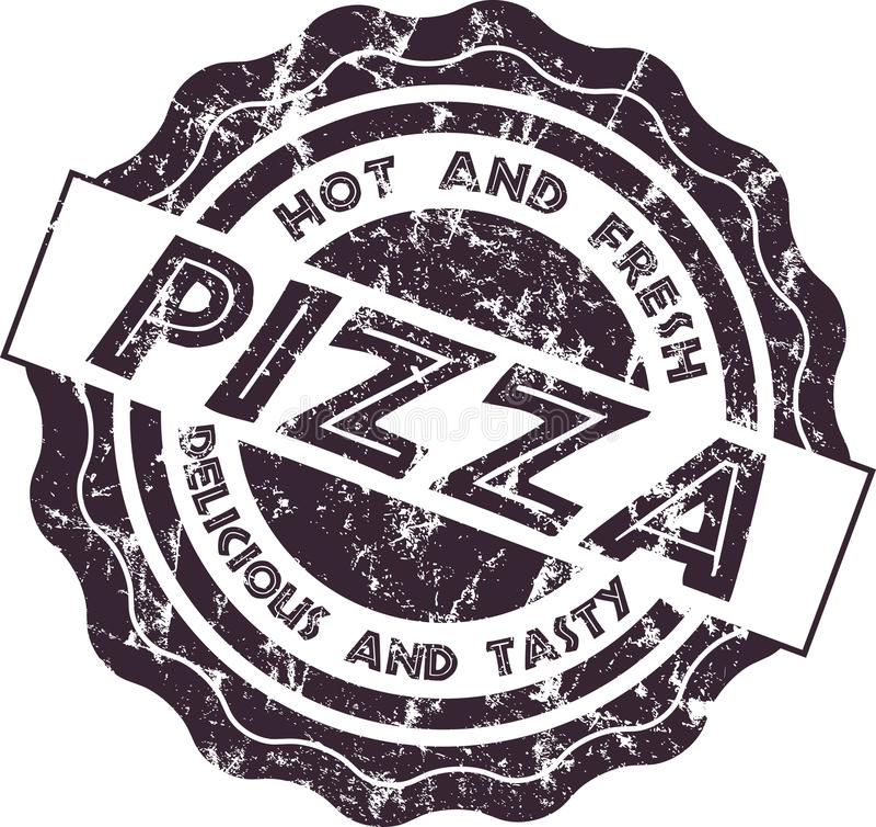 Vintage retro style grungy pizza amp, ilustração isolada do vetor ilustração royalty free