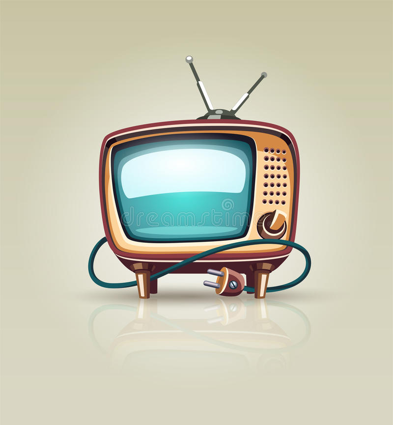 Vintage retro tv set icon. Eps10 vector illustration vector illustration