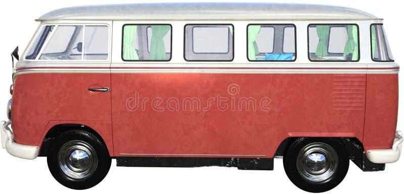 Vintage Retro VW Volkswagen Einzelbus stockfotos