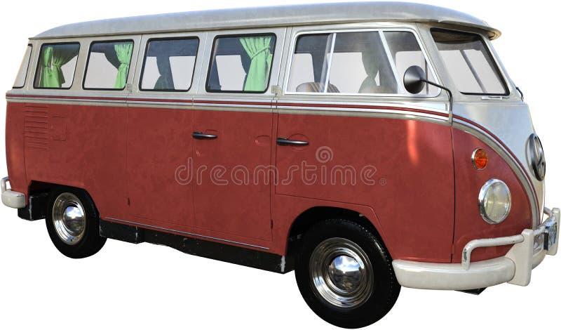 Vintage Retro VW Volkswagen Einzelbus stockbilder