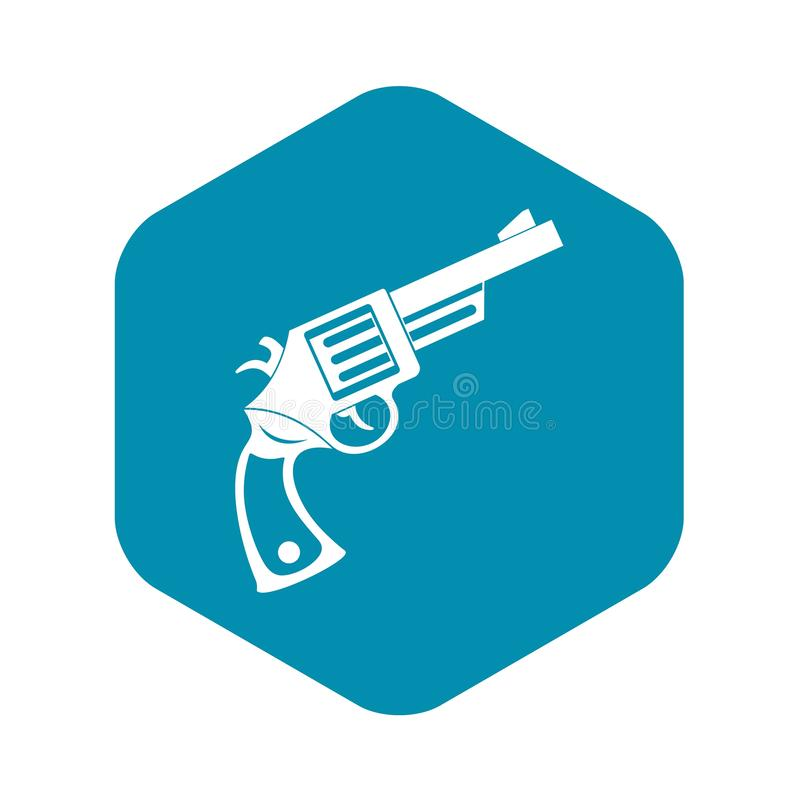 Vintage revolver icon, simple style. Vintage revolver icon in simple style isolated on white background vector illustration stock illustration
