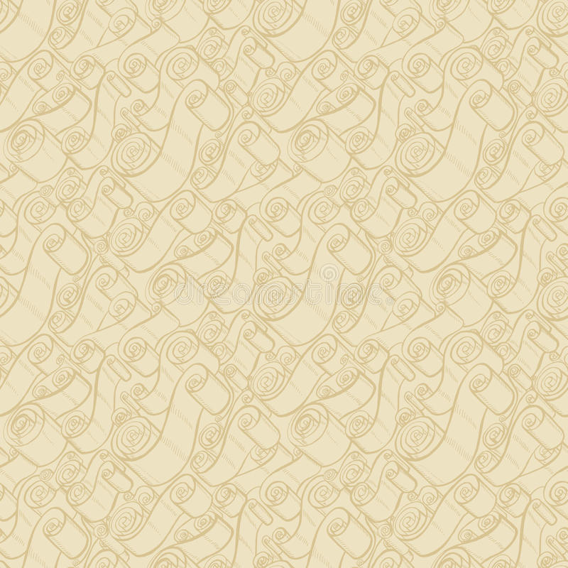 Free Vintage Ribbons And Scrolls. Wallpaper Seamless Pattern Stock Image - 66103761