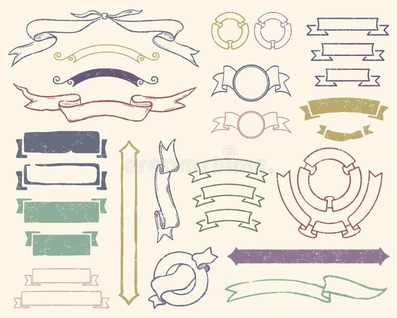 Download Vintage Ribbons Set Royalty Free Stock Image - Image: 24080156