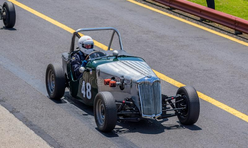 Vintage Riley racing car royalty free stock photos