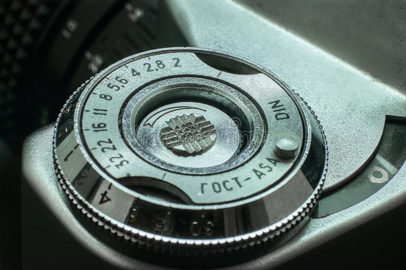 Vintage ring of ISO adjustment royalty free stock photo